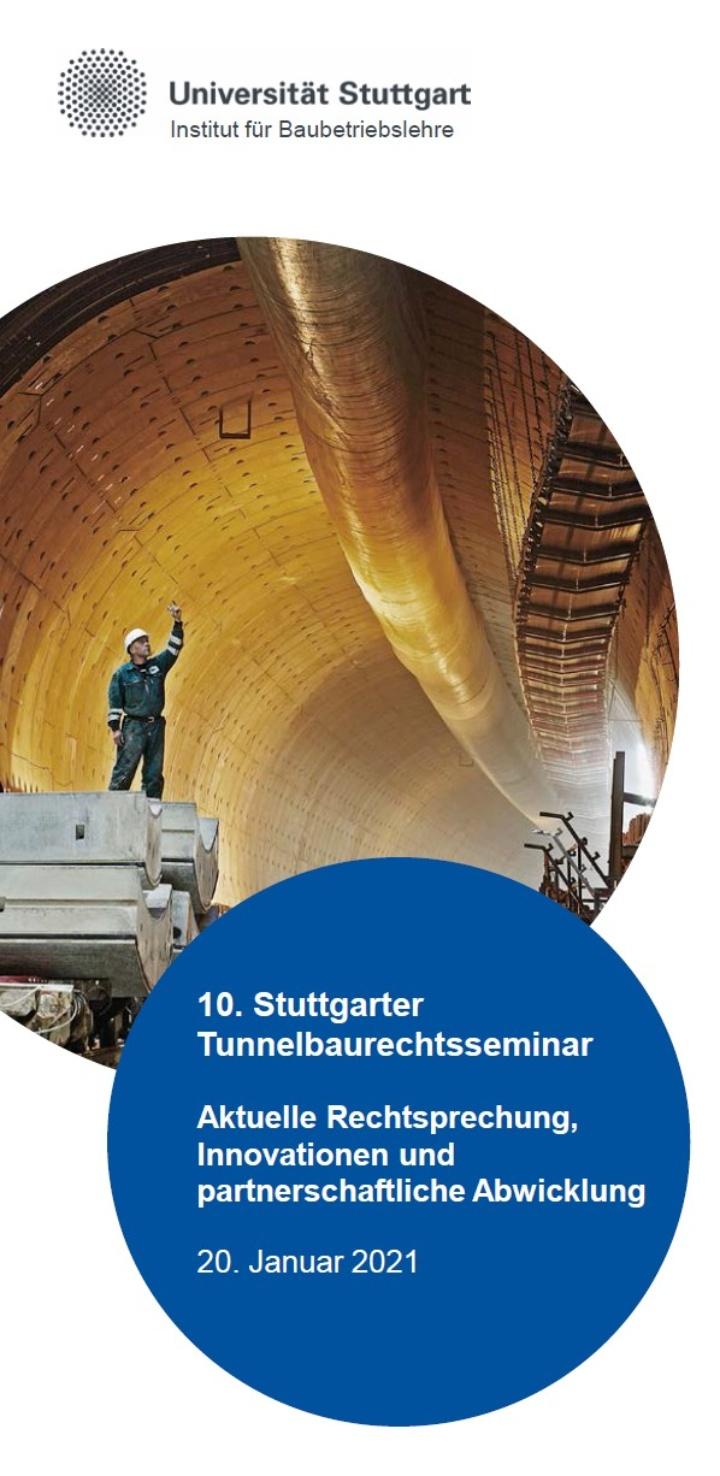 10. Tunnelbaurechtsseminar
