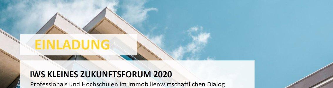Kleines IWS Zukunftsforum 2019